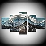 WANGBW Himalaya Landschaft 5 Stück Hd Tapeten Kunst