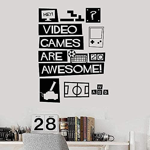 Pegatinas De Pared Calcomanías De Arte Videojuegos Decoración De Juegos Habitación De Adolescentes Decoración Del Hogar 58X78Cm