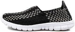 OZYSZSSZBESAN Men's Fashion Acrobatic Shoes Strip Pattern Slip On Splice Vamp Leisure Sneaker (Color : Pink, Size : 39 EU)