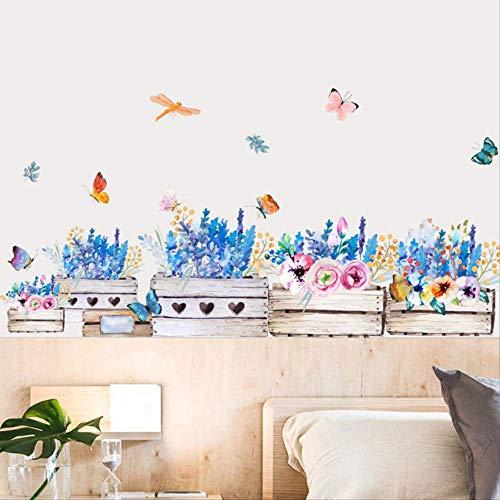 Pintado a mano acuarela pintura en jarrón mariposa volante dormitorio en cabecera decorada jardín restaurante leche tienda de té fondo