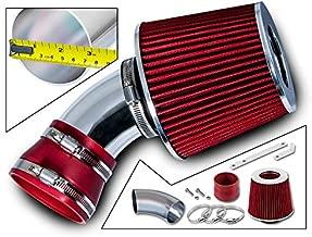 Rtunes Racing Short Ram Air Intake Kit + Filter Combo RED For 06-07 Chevy Malibu 3.9L V6 / 06-09 Pontiac G6 3.9L V6