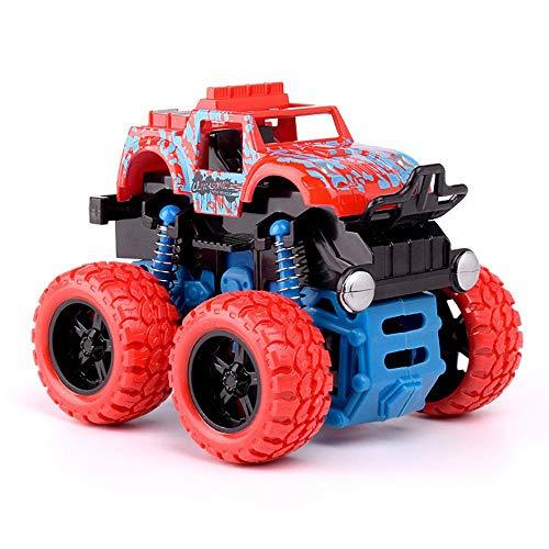 Womdee Camiones De Fricción, Monster Trucks para Niños Rotación De 360 Grados, Bob Arriba y Abajo, Juguetes para Vehículos Resistentes a Caídas, Cumpleaños para Niños, Color Al Azar
