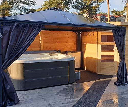 Outdoor Whirlpool Hot Tub Venedig Farbe weiß mit 44 Massage Düsen + Heizung + Ozon Desinfektion + LED Beleuchtung für 5 – 6 Personen für für Garten / Terasse / Außen - 3