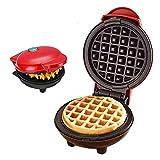 Mini gofrera eléctrica de doble cara de tixudao, regulación automática de la temperatura para paninis, tortitas, desayuno, almuerzo o aperitivos, horneado DIY