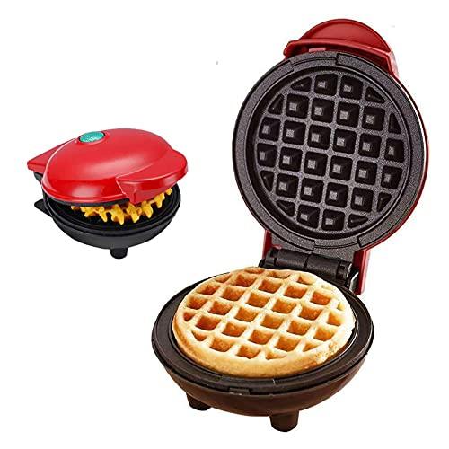 Mini Waffeleisen, tixudao Elektrische Doppelseitige Waffelmaschine, Automatische Temperaturregelungfür Paninis, Pfannkuchen, schnelles Frühstück, Mittagessen oder Snacks,DIY Baking