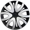 Radkappen / Radzierblenden 16 Zoll MIKA SCHWARZ-SILBER (Farbe wählbar) passend für fast alle Fahrzeugtypen – universal
