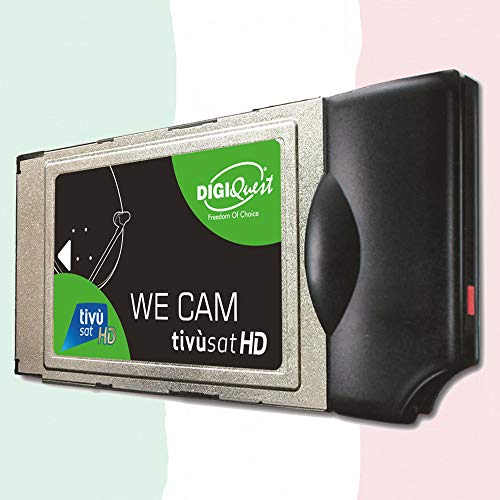 We CAM SmartCam Modulo di DIGIQuest – modulo HD CI+ WiFi con tasto WPS per la ricezione di canali HD 4K italiani via satellite Eutelsat HotBird 13,0° est (senza scheda TiVuSat )