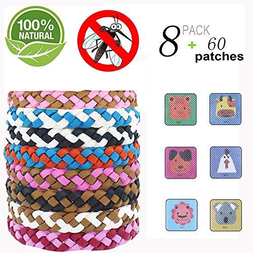 MeiGuiSha Mückenschutz Armband (68 Stück) Erwachsene Indoor und Outdoor Camping und und Zubehör