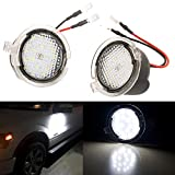 GTP LED Puddle Light Side Mirror Under Assembly For Ford F150 Explorer Edge Expedition Flex Fusion Raptor Taurus X 6000K Xenon White