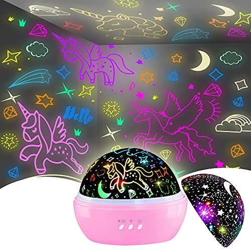 Night Light for Kids,Unicorn Night Light&Star Projector Gifts for Kids Toddlers,Night Light...