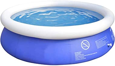 Inflatable Swimming Pools for Kids - Quick Set Round Swimming Pool Above Ground, Outdoor, Yard, Garden - Easy Set Blow up Pool with Electric Air Pump(6ft20in)