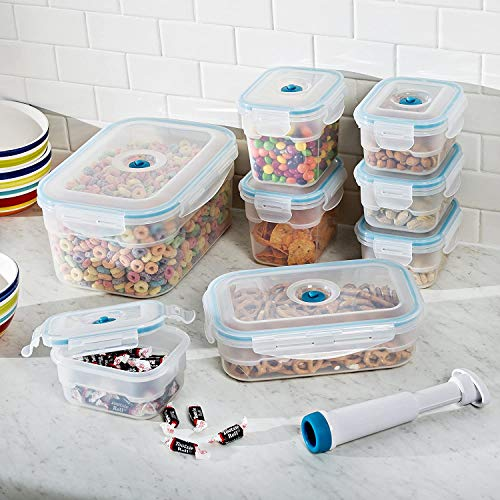 Zevro Vac 'n Save Ruby Rectangular-Shaped Vacuum-Sealing Food-Storage Containers, Set of 8