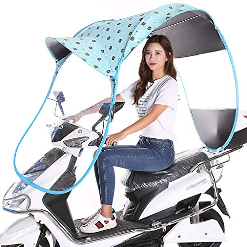 WYBD.Y Easy to use Electric Car Sunshade Shed, Battery Bike Windshield, Scooter Rain Waterproof Cover, Motorcycle Rain Cover, Used To Shield The Wind And Rain From The Sun (Color : A)