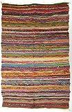 Guru-Shop Alfombra Ligera Patchwork, Manta Patchwork 100x160 cm, Amarillo-multi, Algodón, Color: Amarillo-multi, Alfombras y...