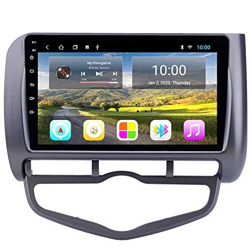 CARACHOME Radio de navegación GPS para Coche de 10 '' para 2006 Honda Jazz City Auto AC con Volante a la Izquierda Soporte para Coche Carplay DVR OBD Mirror Link Bluetooth Manos Libres,WiFi 2+32g