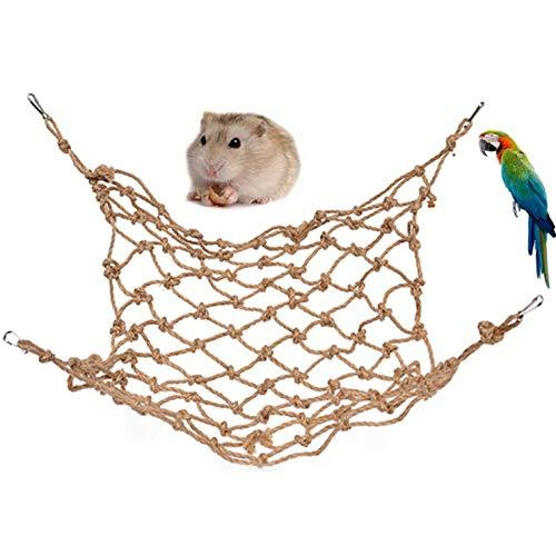 ZHER-LU Papageienbisses Lederglocke Kletterleiter Spielzeug für Vögel, Papageien, Wellensittiche, Nymphensittiche, Ara, Grauer Kakadu, Ratte, Rennmäuse – 40 cm