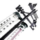 Lantelme 8284 Station météo analogique avec pluviomètre, indicateur de direction du vent et thermomètre extérieur pour mesurer - Jardin