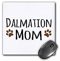 Dalmation Dog Mom–Doggie by Breed–ブラウンMuddy Paw Prints–マウスパッド、8× 8インチ( MP _ 154108_ 1)