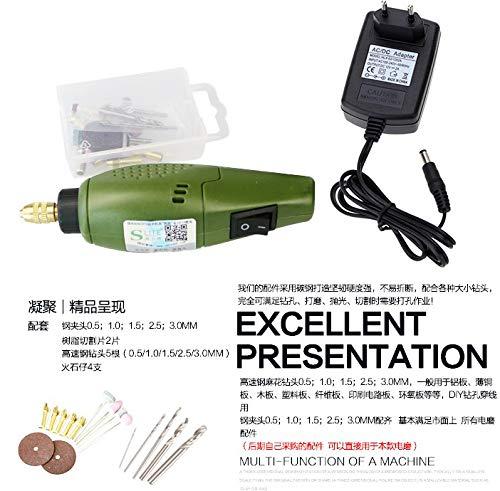 KKmoon Perceuse Meuleuse Mini Set 12V DC, Outil de Meulage pour Polissage Perçage Découpe Gravure Kit de Fraisage