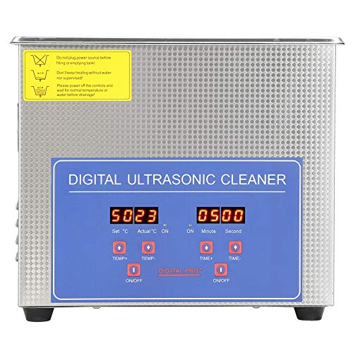 Digital Ultra Sonic Cleaner, 3L LED Display Bath with Heater Timer and...