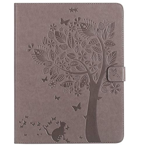 GROSSARTIG For IPad 2nd/3rd/4th Generation Tablet Case Business Horizontal Flip Waterproof Embossing Tree Pattern Premium Leather Protective Case Leather Hard Back Protective Stand Cover