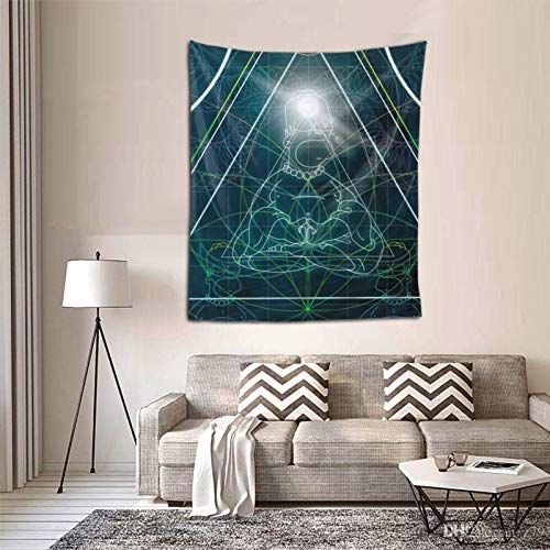 Isabelle & Emilie Tapestry Futurama Homer Space Buddha Tapestry Wall for Hanging Tapestries Bedroom and White Black Mandala World Map