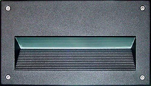 DABMAR LIGHTING DSL1003-LED9-B Step Light RECESSED Lens 9W LED G24 120V, Black