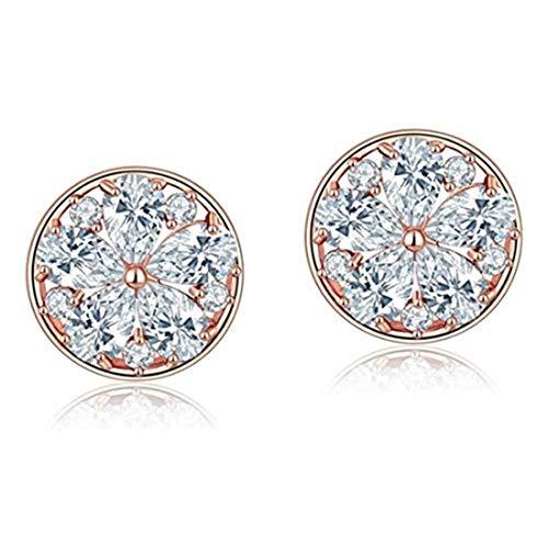 yichahu Options TrendyCZ - Pendientes de tuerca de cristal de circonita para mujer