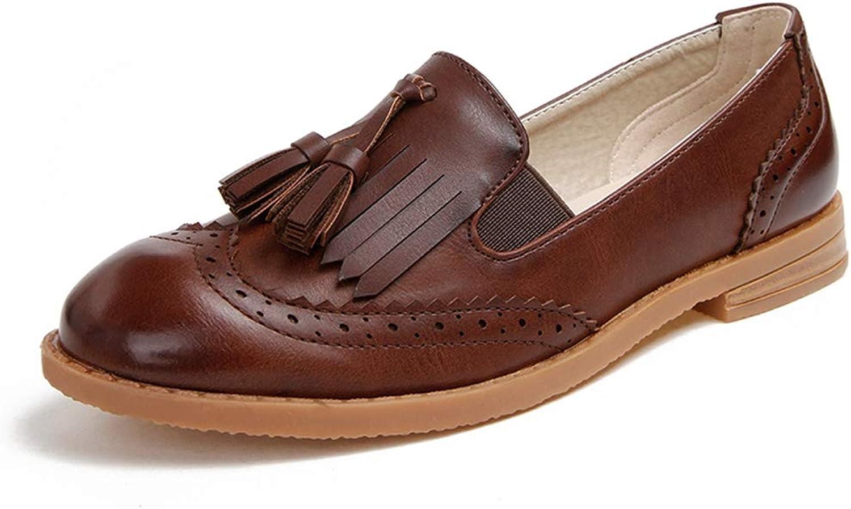 Women Retro Flat shoes Street Fringe Style Women Loafers Autumn Slip-on Sneakers