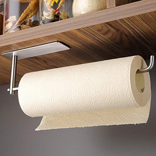 Kegii Küchenrollenhalter ohne Bohren Küchenpapierhalter unter Schrankmontage Stabil Papierrollenhalter, Edelstahl SUS304