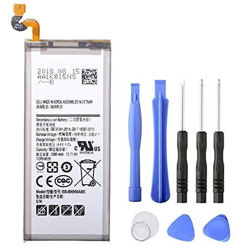 onlyguo 12.71V 3300mAh EB-BN950ABE EB-BN950ABA Batería de Repuesto para Samsung Galaxy Note 8 Note8 N9500 N9508 SM-N950F con Herramientas