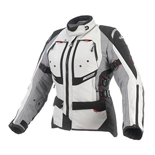 Clover Herren Motorradjacke Airbag Kompatibel, Mehrfarbig (Schwarz/Weiß), M