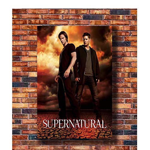 Qylfsxb Supernatural TV Series HD Sam Dean Winchester Hot Gift Art Poster Canvas Painting Home Decor High Definition Poster Living Room -60x80cm No Frame