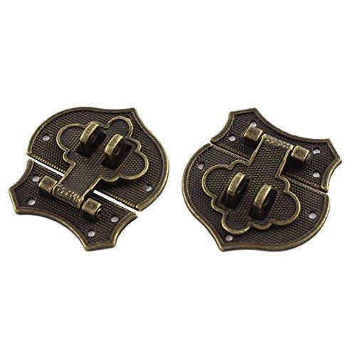 Fltaheroo 2 piezas 41 x 40 mm estilo vintage forma de corazón caja de grapas cierre de bronce