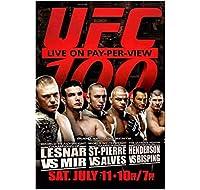 UFC100レスナーvsミールGSPvsアルベスウォールアートキャンバス絵画ポスターリビングルーム家の装飾壁の装飾-60x80cmフレームなし