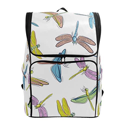 LISNIANY Mochilas Escolares,Imágenes de Fondo de libélulas de Colores en,Mochilas,Bolsas para computadora,Bolsas Viaje para Estudiantes