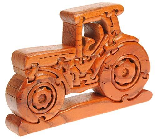 Trattore : Puzzle Legno 3D : Rompicapo Adulti Bambini : Idea del Regalo di Natale o di Compleanno : Dimensioni 14 x 21 x 3cm