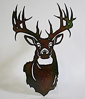 s sales Metal Buck Deer Head Wall Art Lazer Cut Out Large 20