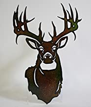 s sales Metal Buck Deer Head Wall Art Lazer Cut Out Large 20