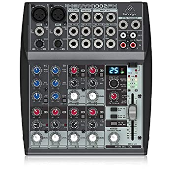 Behringer Xenyx 1002FX Premium 10-Input 2-Bus Mixer with XENYX Mic Preamps British EQs and Multi-FX Processor