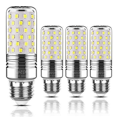 Yiizon lampadine LED di mais, candelabro a LED da 15 W, E27, 120W equivalenti a incandescenza, 6000K Bianca Freddo, 1500LM, CRI80+, non dimmerabile(4 pezzi)
