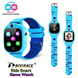 PROGRACE Kids Smartwatch with 90Rotatable Camera Touchscreen Kids Watch Music Pedometer Flashlight Games FM Radio Kids Smart Watch Sports Watches Digital Wrist Watch for Boys