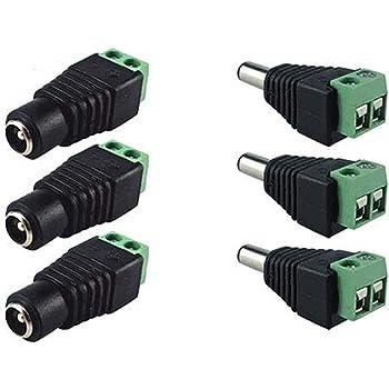 12V enchufe de alimentación de CC Macho Hembra Conector Hembra Cctv Adaptador de Tira de Luz LED