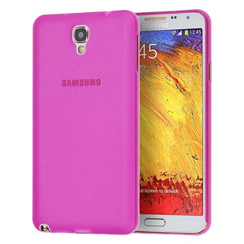 doupi UltraSlim Custodia per Samsung Galaxy Note 3 Neo, Satinato fine Piuma Facile Mat Semi Trasparente Cover, Pink