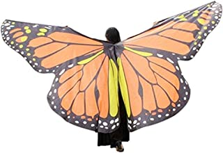 Wings Adult Women Belly Dance Clothing Wings Dancing Costume (Color : Orange, Size : M)