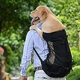 Xinyuanjiafang Portador del Perro del Animal doméstico Bolsa Transpirable para Perros Grandes Golden Retriever Bulldog Mochila Big Dog Ajustable Bolsas de Viaje Animales Productos,Negro,S