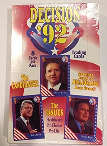 Decision 92 Presidential Trading Cards by Wild Card