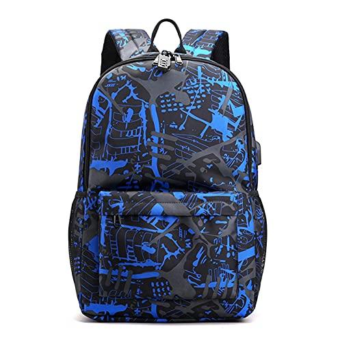 Mochila escolar, mochila para ordenador portátil, mochila escolar impermeable, con puerto de carga USB, para niñas