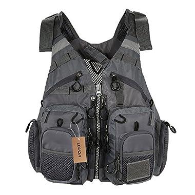 Lixada Fly Fishing Vest,Fishing Safety Life Jacket Breathable Polyester + EPE Foam Mesh Design Fishing Vest for Swimming Sailing Boating Kayak Floating