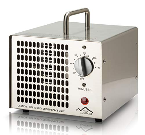 New Comfort Scratch and Dent Stainless Steel Commercial 8,500 mg/hr O3 Ozone Generator Air Purifier Model HE-500 6000 hrs